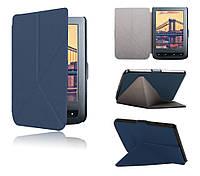 Обложка (чехол) для электронной книги PocketBook 614/615/624/625/626/626 plus/Touch Lux 3 полиуретановая Синий