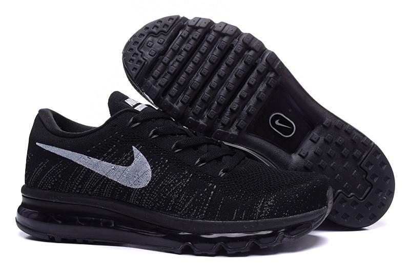 Nike Air Max Flyknit All Black. Лучшие модели кроссовок у нас. Инетрнет магазин спортивной обуви.