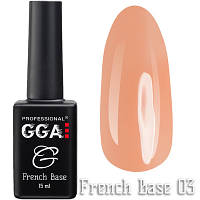 Френч каучуковая база French Base GGA Professional Тон 03