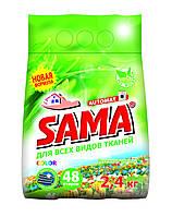 Порошок стиральный без фосфатов автомат, SAMA 2,4 кг (весенние цветы)