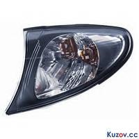 Указатель поворота BMW 3 E46 98-06 левый, черная вставка (Depo) 63136914200