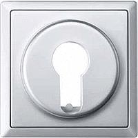 Центральная плата для переключателя с фиксатором рольставни Merten Алюминий (MTN319660)