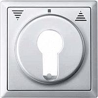 Центральная плата для переключателя с фиксатором рольставни Merten Алюминий (MTN319760)