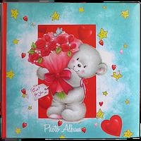 Детский фотоальбом на 200 фотографий с бумажными страницами, Мишка