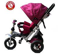Трехколесный велосипед Baby Trike CT-22 , надув колеса, фиолетовый
