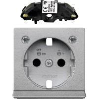 Центральная плата розетки SCHUKO с светодиодным модулем Merten Алюминий (MTN2334-0460)