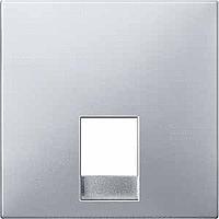 Центральная плата телефонной розетки RJ11/12 Merten Алюминий (MTN462660)