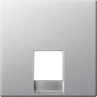 Центральная плата телефонной розетки RJ12 Merten Алюминий (MTN463560)