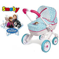 Коляска Smoby Frrozen Landau Pop с люлькой и поворотными колесами 511345