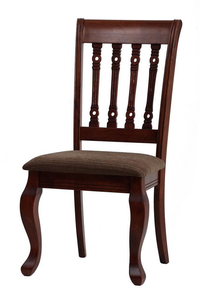 "Классический стул ""Варгас"" (ТК шахматная карамель) (каштан)"
