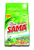 Порошок стиральный без фосфатов автомат, SAMA 3,6 кг (весенние цветы)