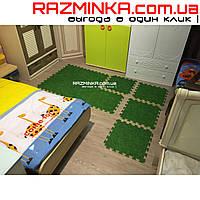 Детский коврик пазл трава EVA 450х450х10мм (х10)