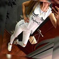 Майка Goodnight белая , женские футболки