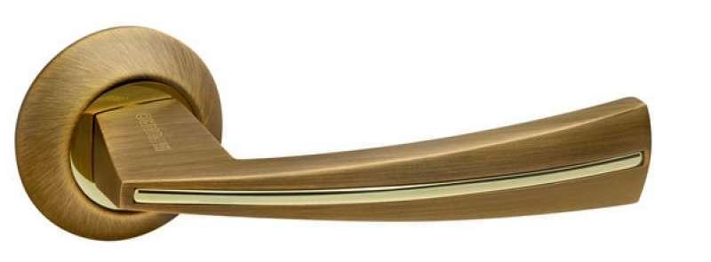 Ручка дверная на розетке Fuaro Soundматовая бронза (Китай)