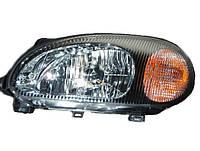 Фара передняя левая в черном корпусе  (под корректор) Sens / Сенс 96304610
