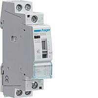 Контактор безшумный с ручным управлением Hager 25A, 2НВ, 230В, 1м (ERC225S)