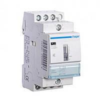 Контактор безшумный с ручным управлением Hager 25A, 2НВ, 24В, 2м (ERD625SDC)