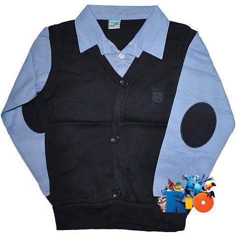 Школьная жилетка - обманка на мальчика, р.7-8лет, фото 2