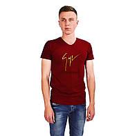Красная мужская футболка с рисунком GIUSEPPE ZANOTTI на лето