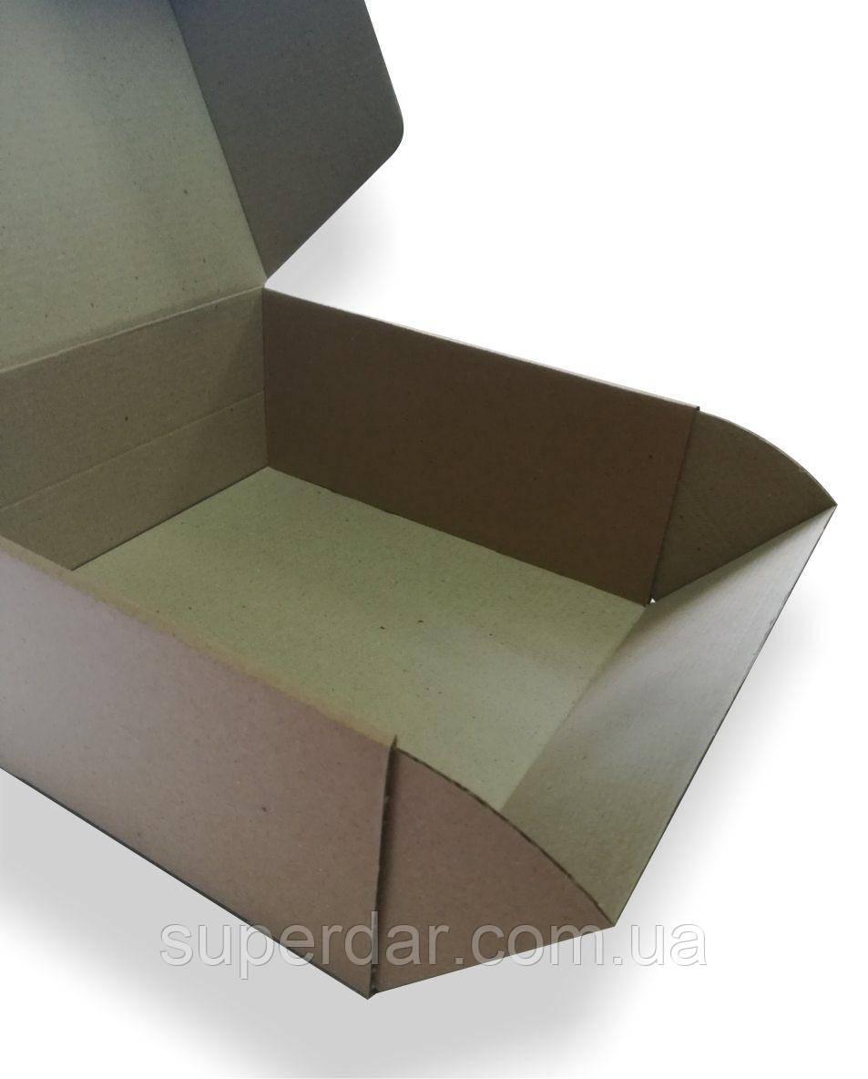 Коробка для торта, 230х230х100 мм, бурая
