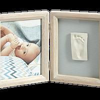 Набор для создания отпечатка ручки и ножки малыша Baby Art Двойная рамка