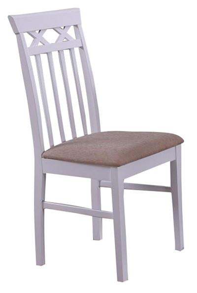"""Білий дерев'яний стілець """"Лаціо"""" (ТК неаполь беж) (білий)"""