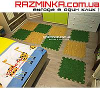 Детский коврик пазл Трава и Дуб 500х500х10мм (х10)