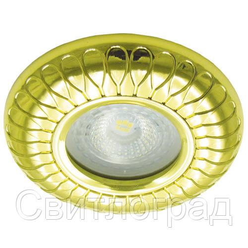 Встраиваемый светильник Feron DL6047 золото 30131
