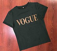 Женская хаки футболка Vogue 3П35_3