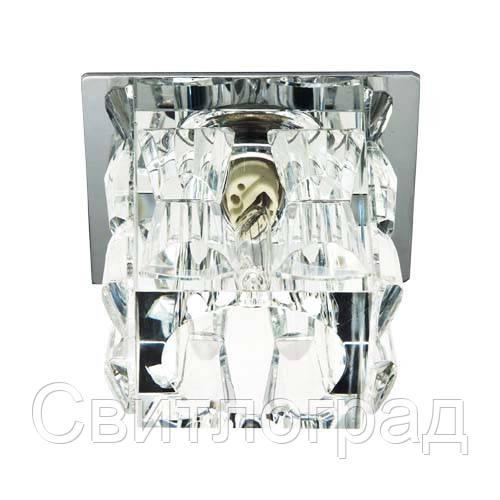 Встраиваемый светильник Feron JD183 прозрачный хром 18917