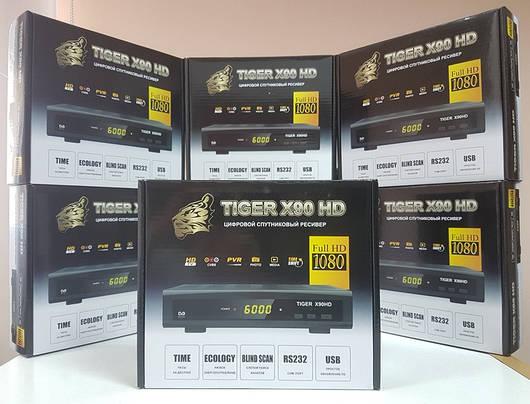 Цифровой спутниковый тюнер ресивер приставка Mpeg4 Tiger X90 HD
