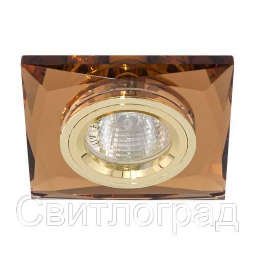 Встраиваемый светильник Feron 8150-2 коричневый золото 20123