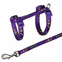 Поводок+шлея Trixie Cat Harness with Leash для кошек нейлоновая, 22-36 см, 1.2 м, фото 1
