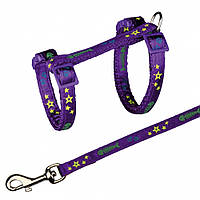 Поводок+шлея Trixie Cat Harness with Leash для кошек нейлоновая, 22-36 см, 1.2 м