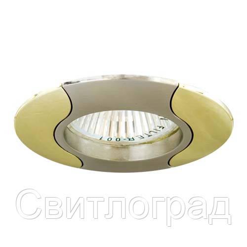 Встраиваемый светильник Feron 020 R-50 титан золото 17670