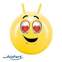 Мяч-попрыгун с ручками Влюбленный смайлик John 59012В, фото 1