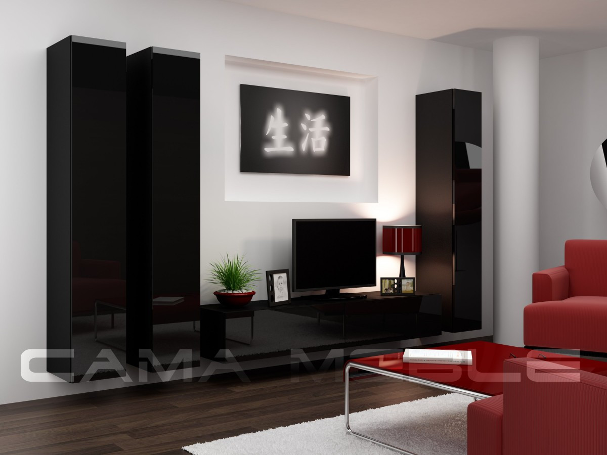 Гостиная Vigo 1 Cama черный/черный глянец