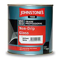 Самогрунтующая Алкидная Желеобразная Глянцевая Эмаль ярко белая Non-Drip Gloss JOHNSTONE`S (Джонстоун)