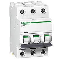 Автоматический выключатель iC60N 3P 1 A C Schneider Electric (A9F84301)