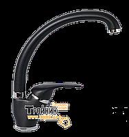 LVMSTR2001#STRAONI Bianchi Star Смеситель для кухни черный U-образный гусак