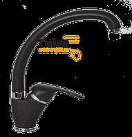LVMSTR2001#STRAGNE Bianchi Star Смеситель для кухни черный гранит U-образный гусак