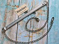 Ручка-цепочка для сумки (эко-кожа), серебро