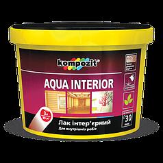 Лак для дерева интерьерный Kompozit AQUA INTERIOR 0.75 л. (глянцевый)