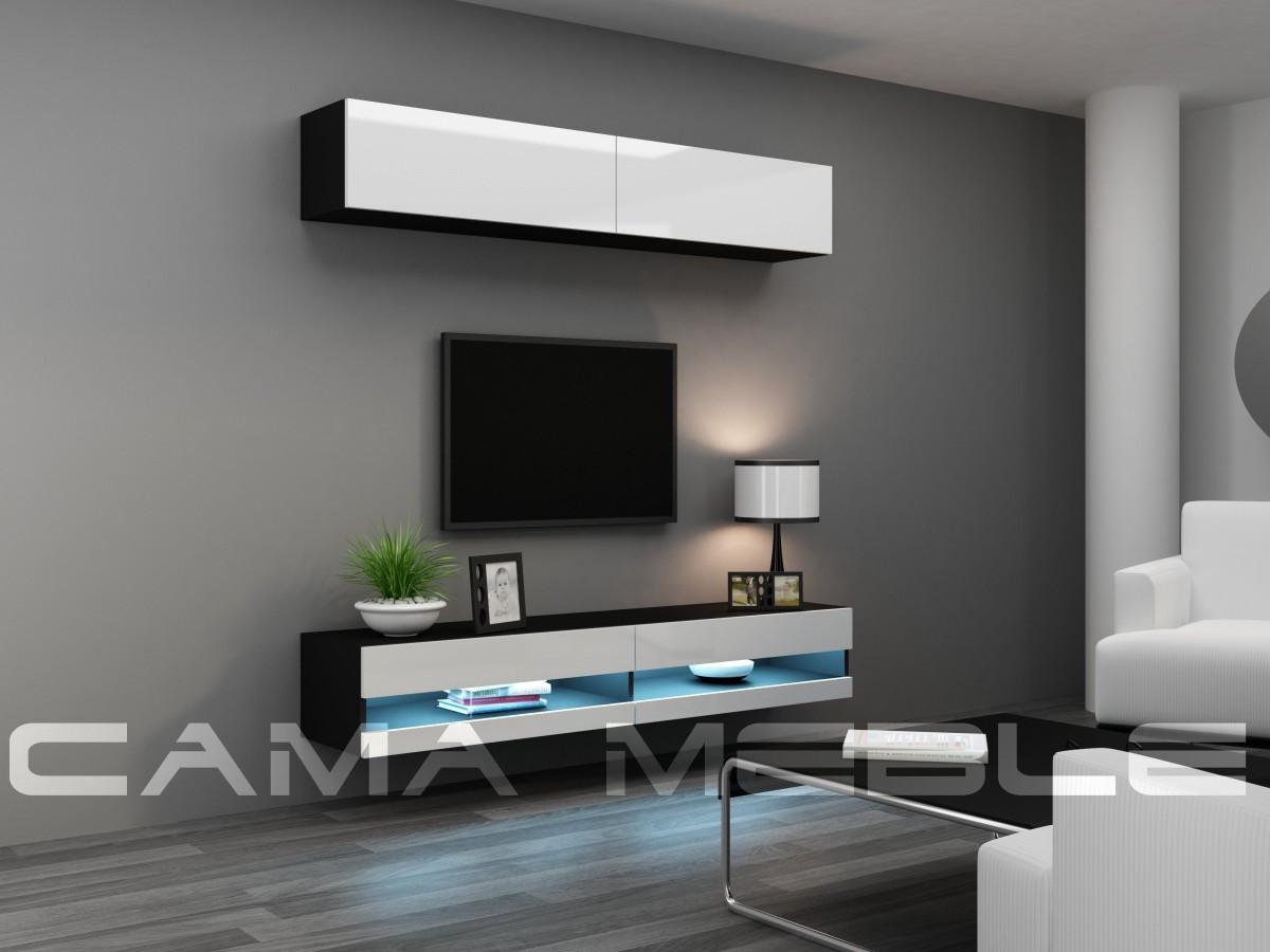 Гостиная Vigo NEW 10 Cama черный/белый глянец
