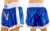 Трусы для тайского бокса UR CO-3875 (PL, р-р XS-3XL, синий-белый)