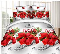 """Комплект постельного белья Евро двуспальный, п/э 3D """"Свадебный подарок"""""""