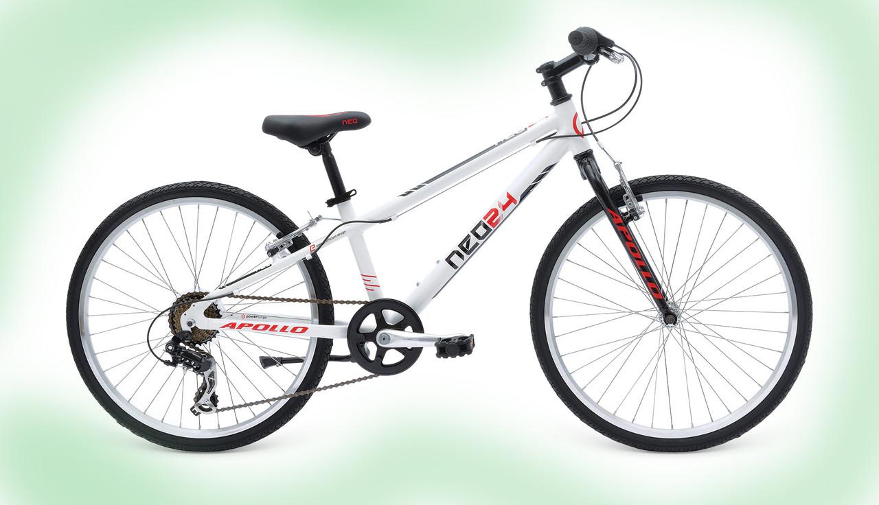 "Велосипед 24"" Apollo Neo boys Geared Gloss White/Gloss Black/Gloss Red"