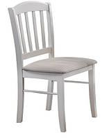"""Деревянный белый стул """"Нортон"""" (ТК панама беж) (белый)"""