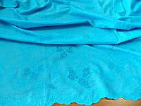 Батист Купон Вышивка (голубой) (арт. 12254) отрез 1 м