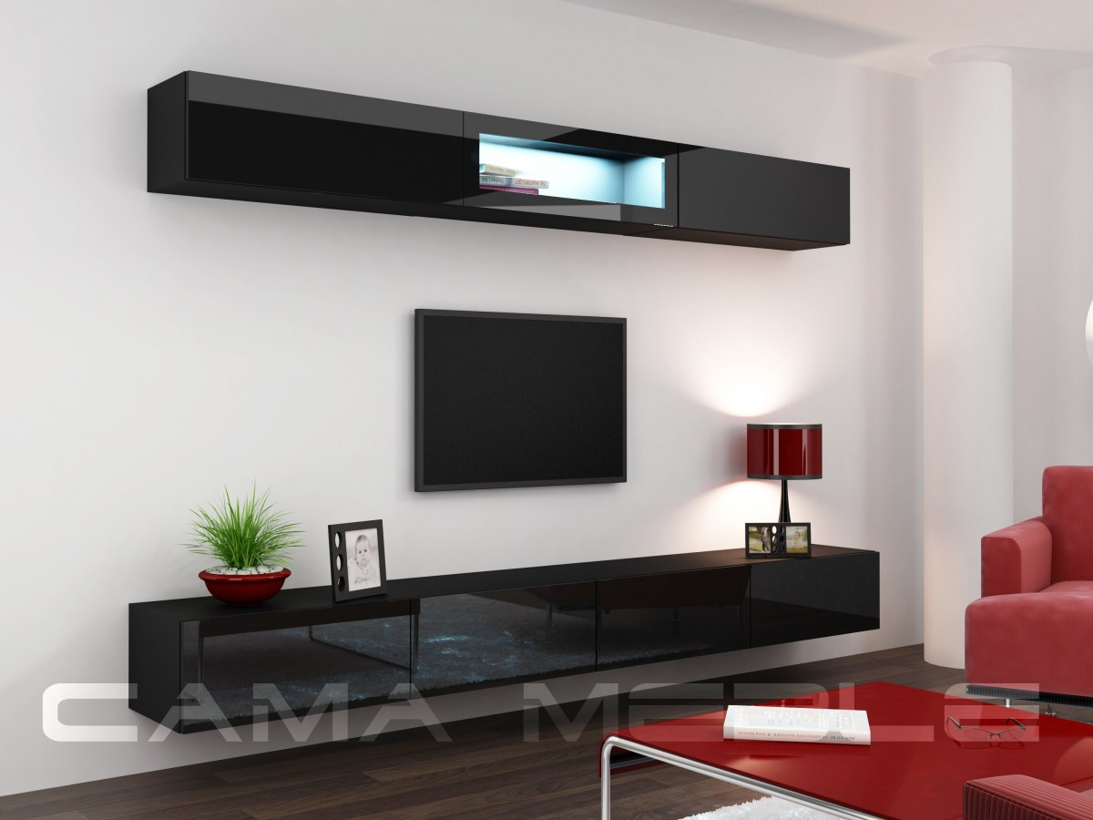 Гостиная Vigo 12 Cama черный/черный глянец